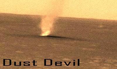 Fenomena Dust Devil di Mars